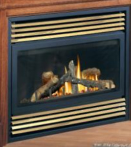 Napoleon Gas Fireplace with white mantle