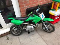 110cc race tuned pitbike very fast bike