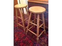 Pair lovely wooden stools