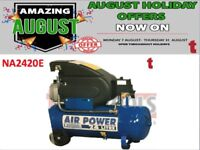 SEALEY NA2420E COMPRESSOR 24LTR DIRECT DRIVE 2HP