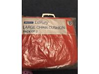 2 Sets of Terracota Chair Cushions For Garden Chairs