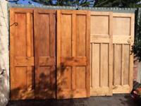 Internal original period wooden doors