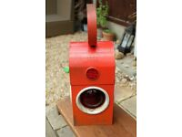 Vintage Industrial Mid Century Red Chalwyn Paraffin Railway Lantern Lamp PATIO