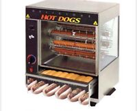 Hot dog roller for rent! Fits 10 hot dogs plus bun warmer