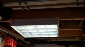 4 square electric fluorescent lights garage shed