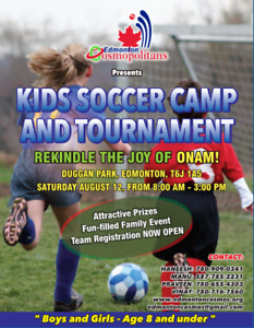 EDMONTON COSMOPOLITANS U-7 U-8 KIDS SOCCER CAMP AND TOURNAMENT