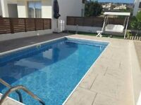 Cyprus, Paphos beautiful modern 3 bedroom villa with private pool and sea view.