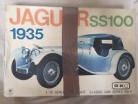 1935 JAGUAR SS100 MODEL KIT UNMADE - FIRST ISSUE misprint issue RARE.