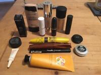 Bundle of partly used makeup