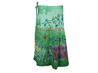 Wrap Skirts Tie-Dye Embroidered Beach Cover Up Boho Long Skirts