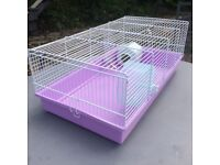 Hamster Cage - lilac and white