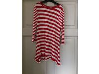 TU red and white striped girls dress