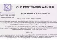 WANTED OLD POSTCARDS. FULL TIME DEALER PAYS TOP PRICES FOR QUALITY ITEMS.