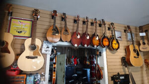 Mandolins. New Used Vintage consignments.  Hands on Music Co.