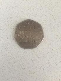 Plural of penny 50p coin