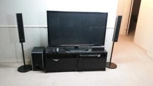 """50"""" LG TRU SLIM PLASMA TV AND STAND"""