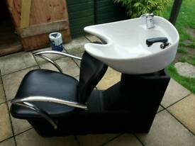 Hairdressers/barbers chair with basin