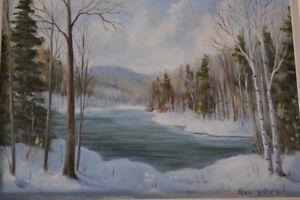 Peinture Scene d'hiver