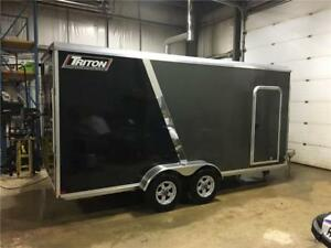 2017 Triton CT-167R 7x16+2ft V-Nose Aluminum Trailer
