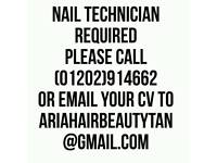 NAIL TECHNICIAN REQUIRED