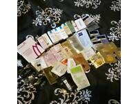 Huge pile of beauty samples