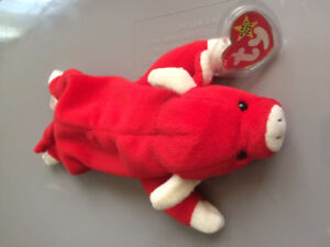 Very Rare Ty Beanie baby Snort with Tabascos name in poem.