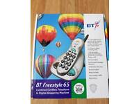 BT BRAND NEW FREESTYLE 65 CORDLESS TELEPHONE WITH ANSWERING MACHINE