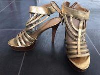Nine West ankle strap stiletto high heel shoe size UK 4/ EUR 37