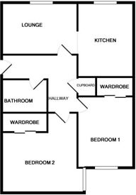 2 Bedroom Unfurnished Flat For Rent in Ellon. Council tax included in rent.