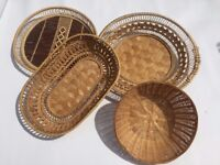 Selection of wicker bread baskets