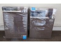 Curtains Brown set of 2 Brand new