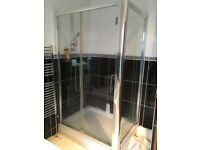 Luxury 8mm Shower Enclosure 1200 x 900 with Stone Shower Tray - BARGAIN - Next to New