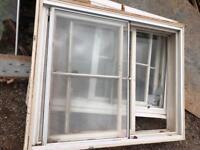 2 x Victorian sliding sash wooden windows with secondary glazing
