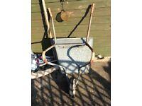 Galvanised wheel barrow.£5