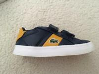 Lacoste infant size 4 trainers