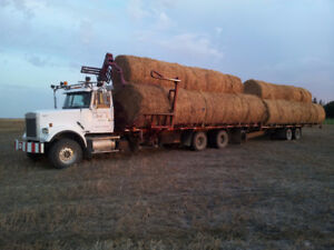 Self-Loading/Unloading Round Bale Truck & Trailer for Sale
