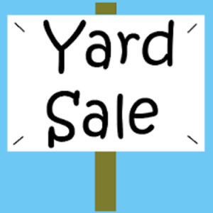 Yard sale plus FREE STUFF