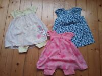 Baby girl 6-9 months clothing bundle incl sleepsuits, dresses, shorts, t shirts, see pics