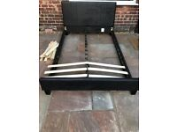 Double bed quality black Leatherette type