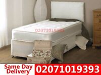 Brand New Single Divan Bed Available with Mattress Los Angeles