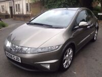 Grey Honda Civic 2.2 diesel i-cdti , Panoramic Roof, good condition,