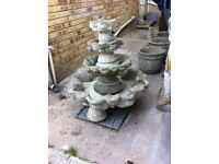 4 tier concrete fountain