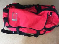 North Face XL red duffel / Rucksack Bag
