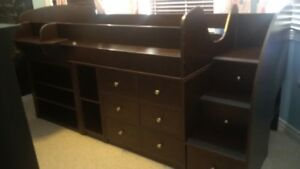 *Sold PPU* 4 in 1 loft bed (bed, storage, desk and dresser)