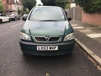Vauxhall zafira club 16V, 1.6 litre for sale, only 2 former keepers, MOT, starts and drives.