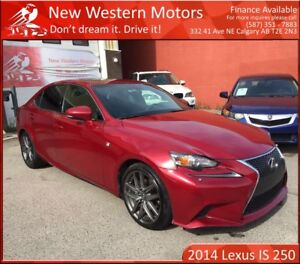 2014 Lexus IS 250 F Sport 2 SETS TIRES & RIMS! FULLY LOADED!