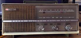 RARE! Vintage 1960'S Korea GOLD STAR 7TR SUPER SILICON SOLID STATE RADIO MW.(AM)