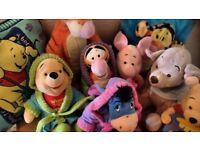 Winnie the Pooh soft toys bundle