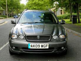 2009 09 Jaguar X-Type 2.0 D SE 5dr MEGA SPEC+FSH+SUNROOF+SATNAV