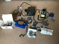Soldering station with extras